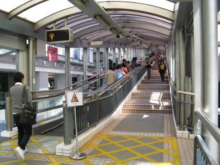 Mid Level Escalators In Hong Kong