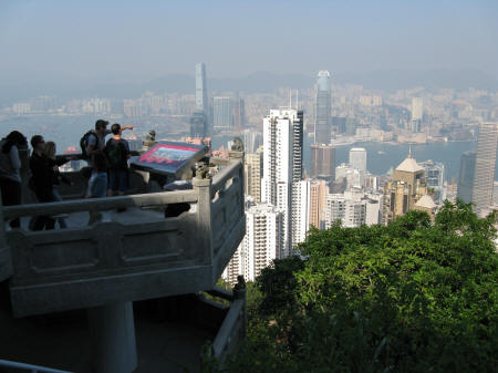 Victoria Peak Lookout in Hong Kong